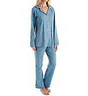 BedHead Pajamas Blue Road To Morocco Long Sleeve PJ Set 7005