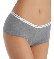 Tommy Hilfiger Classic Cotton Logo Boyshort Panty - 2 Pack R82T041