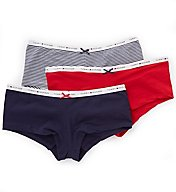 Tommy Hilfiger Classic Cotton Logo Boyshort Panty - 3 Pack R91T004